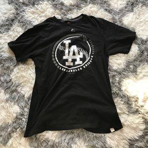 LA Dodgers Majestic Reflective Black T Shirt